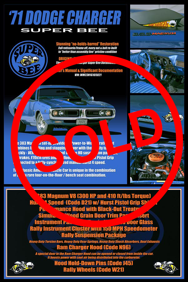 1971 Dodge Charger Super Bee Sold